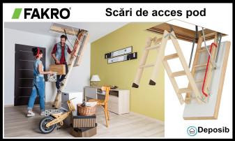 Scara retractabila de pod: solutia perfecta pentru economia de spatiu si accesul facil in mansarda locuintei tale