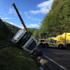 Circulaţia feroviară, întreruptă între Ciucea și Piatra Craiului - Camion răsturnat peste şine
