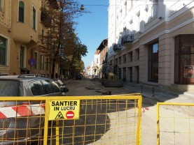 Strada M. Eminescu din Oradea - Încă două săptămâni de lucrări