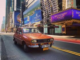 New York în timpul pandemiei - Dacia 1300 pe străzile pustii