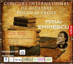 Concurs internațional de recitare poezie sau proză - Eminescu ne unește