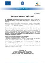Comunicat de presă - Anunț de lansare a proiectului