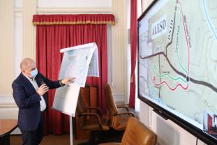 Varianta preferată de CJ Bihor are 5,9 km şi este contestată de unii locuitori - Centura oraşului Aleşd, în dezbatere publică