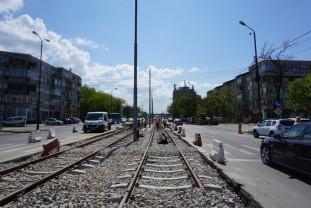 Se betonează intersecția Vlădeasa-Calea Aradului-Ibsen - Extinderea liniei de tramvai