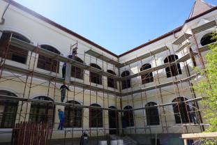 Palatul Episcopal Greco-Catolic - Se reabilitează fațadele interioare