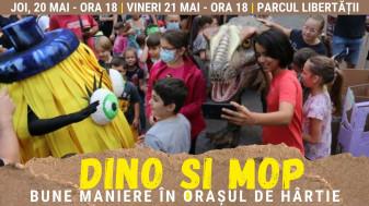 Joi și vineri, în Parcul Libertății - Întâlnire cu Dino și Mop