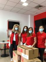 La Spitalul Clinic CF Oradea - Donație de echipamente de protecție și biocide