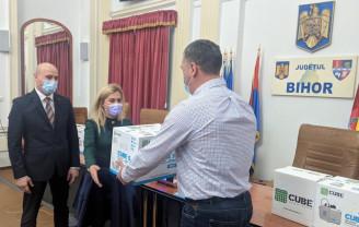 Cinci spitale bihorene din linia I - Au primit gratuit nebulizatoare