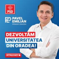 Emilian Pavel (PSD): Educația reprezintă motorul oricărei comunități. Oradea se poate dezvolta sănătos doar printr-o resursă umană bine pregătită!
