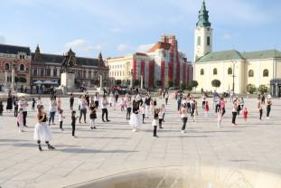În Piața Unirii - Oradea a dansat Jerusalema