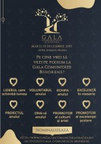 Cetăţenii sunt invitați să facă nominalizări - Gala Comunității Bihorene