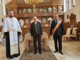 Un credincios al Parohiei Ortodoxe Gepiu a împlinit 100 de ani - Veteranul Teodor Lazăr, la aniversare