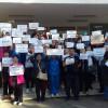 Protest spontan la Municipal. 250 de salariați au cerut egalitate!