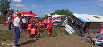 Autorităţile au activat Planul Roşu de intervenţie - Accident pe DN19