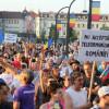 Vineri şi sâmbătă aproximativ opt sute de cetăţeni au ieşit la proteste - Manifestaţii paşnice la Oradea