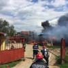 Aproape de o tragedie la Sântandrei - O magazie cu butelii a luat foc