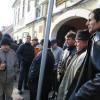 Un grup de disponibilizaţi au ieşit în stradă - Victime colaterale la CET