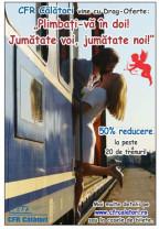 De Valentine's Day şi Dragobete - Reducere de 50% pe anumite trenuri