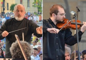 Filarmonica de Stat Oradea. Un nou concert în aer liber - Tată și fiu pe aceeași scenă