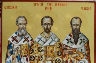 Mâine, 30 ianuarie - Sfinţii Trei Ierarhi: Vasile, Grigore şi Ioan