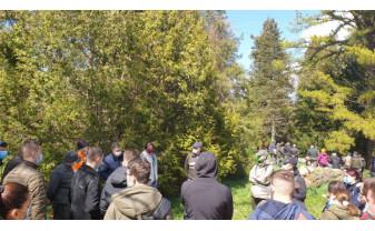 """Parcul dendrologic """"Arboretumul Sylva"""" de la Gurahonț - Studenții de la Mediu, în practică"""