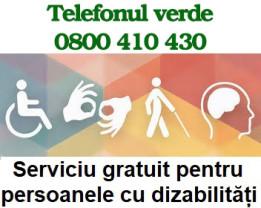 Un nou serviciu în sprijinul persoanelor cu dizabilităţi - Telefonul Verde