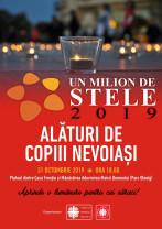 """Joi, 31 octombrie, la Oradea. Alături de copiii nevoiași - """"Un Milion de Stele"""" 2019"""