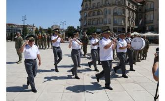 Ceremonie militară, pe repede înainte - Ziua Imnului Național, marcată la Oradea