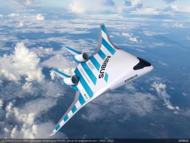 Un avion cu aripile integrate în caroserie - Airbus Maveric, în teste de zbor