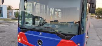 Pe podul Ovid Densuşianu  - Autobuz vandalizat