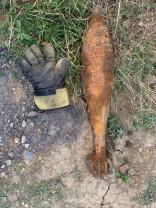 Muniţia a fost găsită în Cordău, de muncitorii care lucrau la canalizare - O bombă funcțională, descoperită pe stradă