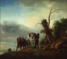 Capodopere ale picturii universale, la Muzeul Ţării Crişurilor - Peisaj cu cai de povară