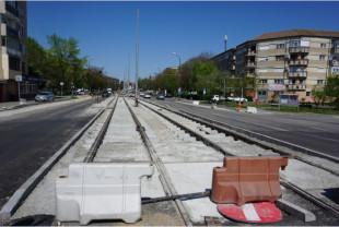 Se restricționează circulația pe strada Traian Blajovici, - Lucrări de extindere a liniei de tramvai
