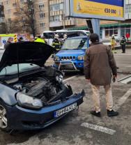 Oradea - Tamponare cu trei mașini în Cantemir