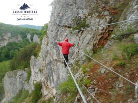 Un nou traseu via ferrata se dechide în Şuncuiuş - Cassio Montana inaugurează Podu Indian