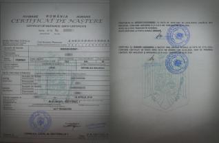 Transcrierea certificatelor de naștere multilingve din străinătate - În termen de 6 luni
