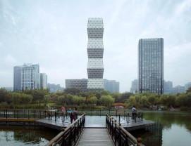 Shanghai, China - Zgârie-nori inspirat de Coloana Infinitului