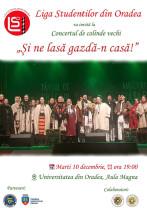 """Concert de colinde vechi la Universitate - """"Şi ne lasă gazdă-n casă"""""""