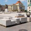 Dalele deteriorate din Piața Unirii - Înlocuite în baza garanţiei