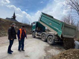 Drumul județean Beiuș - Aleșd - S-a turnat stratul de uzură pe 12 km