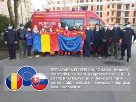 O echipă de medici și asistenți români, inclusiv bihoreni, a plecat spre Bratislava - Sprijin pentru Slovacia