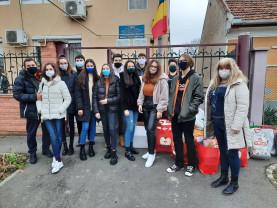 """Elevii de la Liceul German, în vizită la """"Steaua Norocoasă"""" - Alături de copiii instituționalizați"""