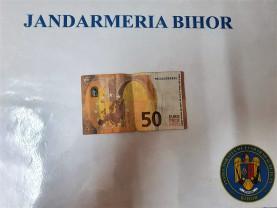 Bancnotă de 50 de euro falsă - Jandarmii au intervenit din nou
