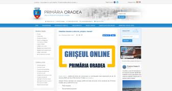 Ghișeul Online - Primăria Oradea va funcţiona cu intermitenţe