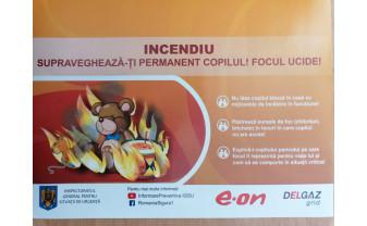 """""""Ai grijă la cea mai mare grijă: siguranța copilului tău!"""" - Campanie derulată de pompierii bihoreni"""