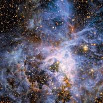Ochiul lui Hubble scrutează Marele Nor al lui Magellan - Un roi stelar globular