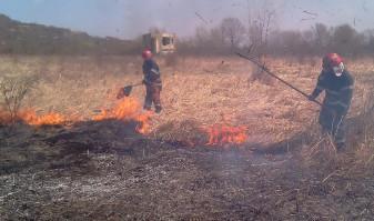 Fumul degajat de arderea vegetației uscate a periclitat siguranța participanților la trafic - Incendii în patru localități
