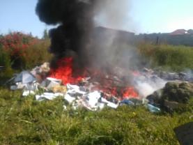 GNM Bihor, în Marghita - Incendieri de deşeuri amestecate