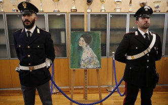 """Tablou de Klimt, descoperit într-un zid după 20 de ani - """"Portretul unei doamne"""""""