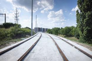 Extinderea liniei de tramvai - Lucrări realizate în proporţie de peste 60%